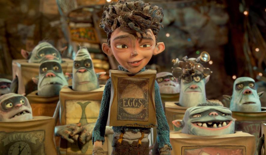 "In this image released by Focus Features, Eggs, voiced by Isaac Hempstead Wright, appears in a scene from ""The Boxtrolls."" (AP Photo/Focus Features)"