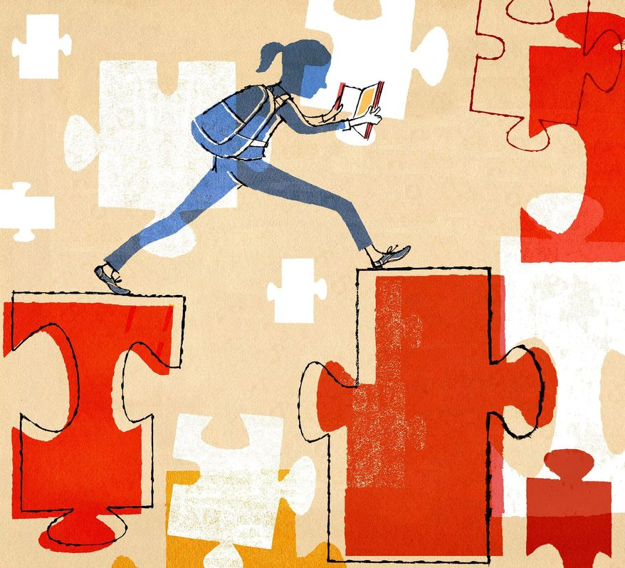 Illustration on the curative foundation of education in a child's life by Donna Grethen/Tribune Content Agency