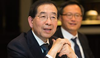 Despite the Obama administration's  lacking a clear strategy for North Korea, Seoul Mayor Park Won-Soon hopes the U.S. can steer Pyongyang to openness. (Keith Lane/Special to the Washington Times)