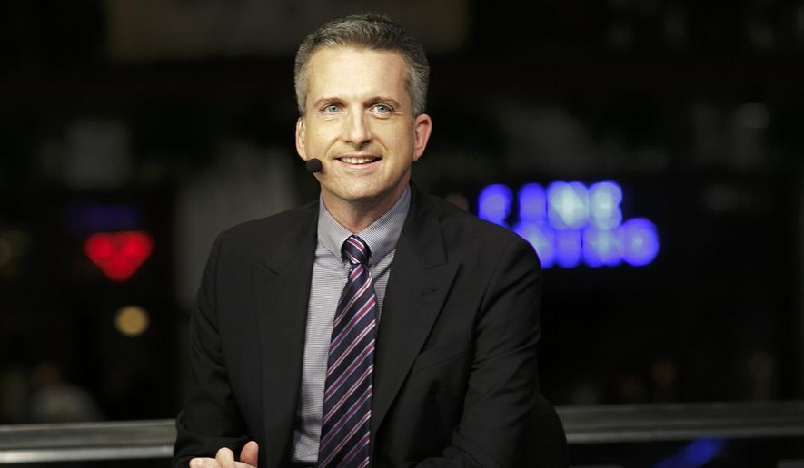 This Jan. 30, 2013, photo provided by ESPN Images shows Bill Simmons on the set of NBA Countdown in New Orleans. ESPN has suspended Simmons for three weeks after he repeatedly called NFL Commissioner Roger Goodell a liar during a profane tirade on a podcast. ESPN announced the suspension Wednesday, Sept. 25, 2014. (AP Photo/ESPN Images, Don Juan Moore)