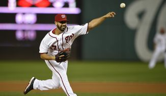 Washington Nationals starting pitcher Gio Gonzalez delivers against the New York Mets during the second inning of the second baseball game of a doubleheader, Thursday, Sept. 25, 2014, in Washington.(AP Photo/Nick Wass)