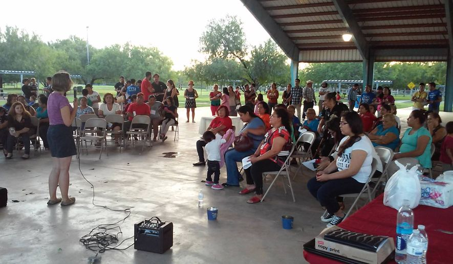 """Parents announced their illegal status and demanded protection from President Obama during """"Coming Out Day"""" Wednesday afternoon in Edinburg, Texas. (Facebook/Minority Affairs Council)"""