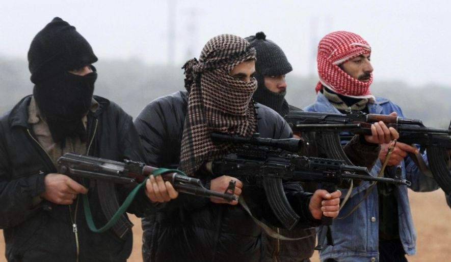 Free Syrian Army members train outside Idlib, Syria, Feb. 7, 2012. (Associated Press) ** FILE **