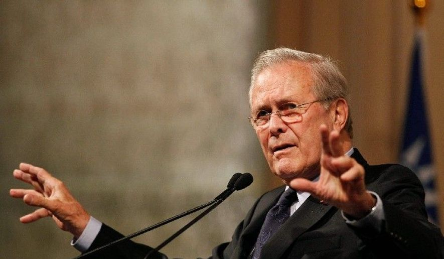 Former Secretary of Defense Donald H. Rumsfeld (Associated Press) **FILE**