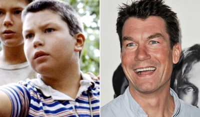 Jerry O'Connell is best known for his roles as Vern Tessio in the film Stand by Me (left), Quinn Mallory in the TV series Sliders,  Derek in Scream 2, Charlie Carbone in Kangaroo Jack, and Detective Woody Hoyt on the drama Crossing Jordan. On July 14, 2007, O'Connell married actress and former model Rebecca Romijn.