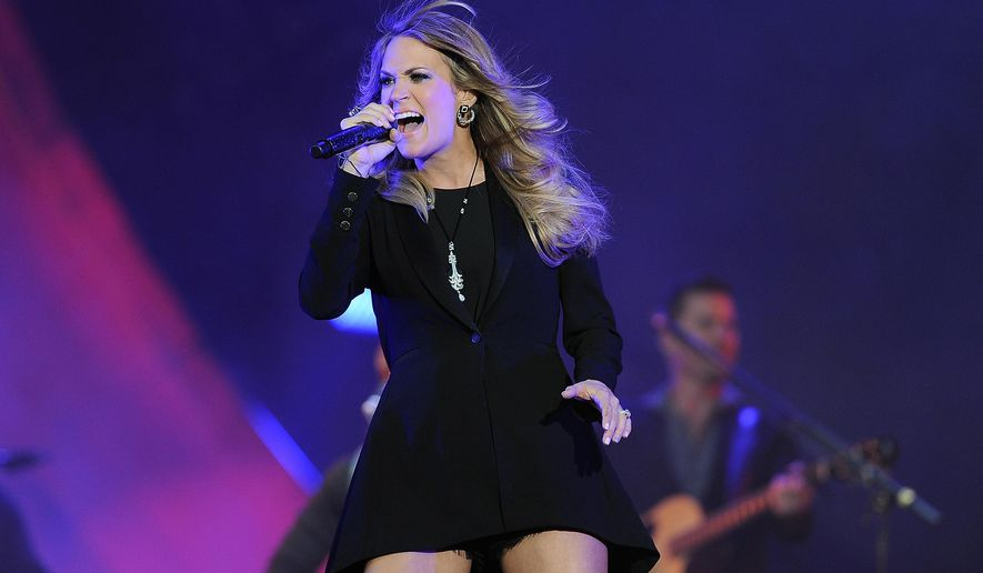 Carrie Underwood performs Saturday, Sept. 27, 2014, during the 3rd Global Citizen Festival at Central Park in New York. (Photo by Brad Barket/Invision/AP)