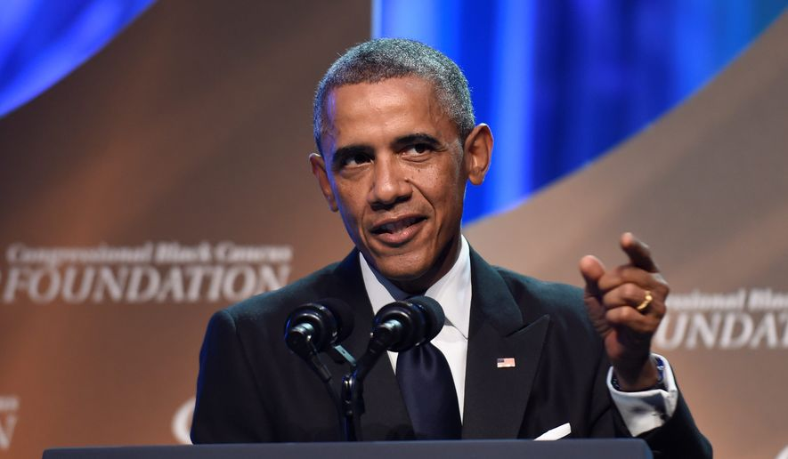 In his speech at the Congressional Black Caucus Foundation's Legislative Conference Phoenix Awards Dinner, President Obama discussed race relations in America. (Associated press)