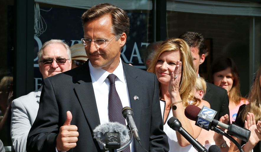 """David Brat's upset win in a GOP primary earlier this year over former House Majority Leader Eric Cantor with a much smaller budget may have caused a """"minirevolution"""" in political spending, encouraging others to look into more grass-roots advertising on the Internet. (AP Photo/Steve Helber)"""
