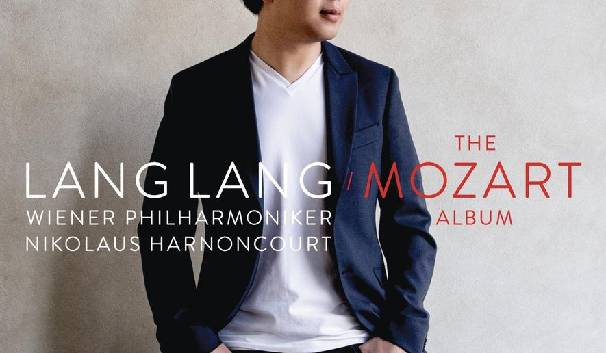 """This CD cover image released by Sony Classical shows """"The Mozart Album"""" by Lang Lang. (AP Photo/Sony Classical)"""