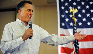 Former Massachusetts Gov. Mitt Romney didn't win Colorado two years ago as the Republican presidential candidate in 2012, but he was back in the Rocky Mountain State on Monday, campaigning on behalf of the party's candidates for governor, Senate, the House and other offices. (Associated PRess)