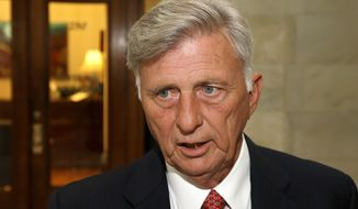 Arkansas Gov. Mike Beebe, a Democrat, hailed the state's 2 percent drop in insurance premiums as proof of Obamacare's success. (Associated Press)