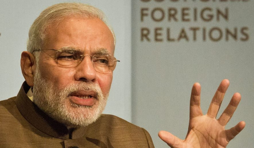 India's Prime Minister Narendra Modi is making his first visit to Washington, D.C., this week. He had a private dinner with President Obama Monday night, though the White House wouldn't say whether intellectual property reform was on the agenda. (Associated Press)