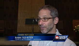 Rabbi Ted Riter of the Beth Israel Congregation said he went to Wraps in Maywood Mart last week and was insulted by the owner, John Ellis, when he ordered a salad. (WAPT 16)