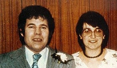 A Twitter user tricked Donald Trump on Monday into tweeting a photo of serial killer couple Fred and Rosemary West. (Twitter/@feckhead)