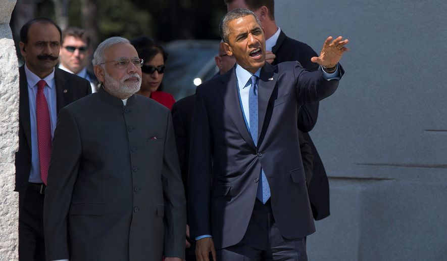 President Obama meets with Indian Prime Minister Narendra Modi in Washington, D.C., to discuss bilateral trade relations and the possibility of reviving nuclear energy talks, however, India's liability laws may scuttle such plans. Mr. Modi maintained he is open to changing those laws. (Associated Press)