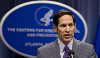 Director of Centers for Disease Control and Prevention Dr. Tom Frieden speaks during a news conference. (AP Photo/John Bazemore) ** FILE**