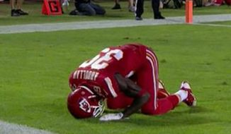 Kansas City Chiefs safety Husain Abdullah drew a 15-yard unsportsmanlike penalty for a muslim endzone prayer during the Monday Night Football game against the Patriots.