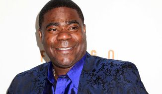 "FILE - In this April 9, 2014 file photo, actor Tracy Morgan attends the FX Networks Upfront premiere screening of ""Fargo"" at the SVA Theater in New York.  Morgan is responding to allegations made by Wal-Mart in his lawsuit over a highway crash earlier this year that killed one of his friends. Wal-Mart claimed in a court filing Monday, Sept. 29, 2014, that the actor-comedian and his traveling companions were partly to blame for their injuries in the June crash because they weren't wearing seatbelts.  (Photo by Greg Allen/Invision/AP, File)"