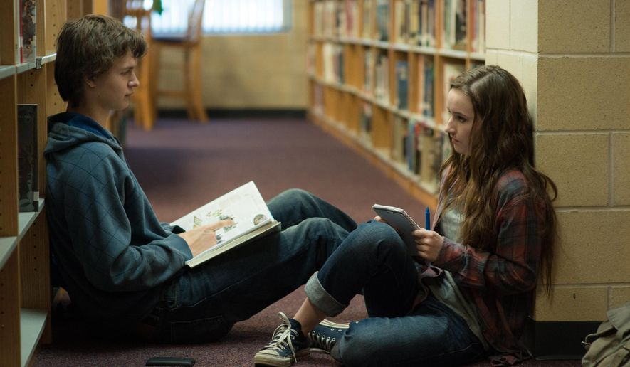 "In this image released by Paramount Pictures, Ansel Elgort, left, and Kaitlyn Dever appear in a scene from ""Men, Women & Children."" (AP Photo/Paramount Pictures, Dale Robinette)"