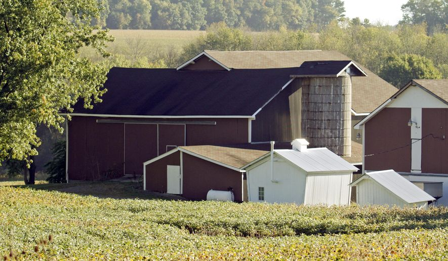 The Traficant family farm in Greenford, Ohio, is shown Wednesday, Sept. 24, 2014. Former U.S. Rep. James Traficant Jr., who spent time in prison on corruption and racketeering charges, was critically injured Tuesday night, Sept. 23, 2014, at the farm when a tractor overturned on him. (AP Photo/The Vindicator, Robert K. Yosay) MANDATORY CREDIT
