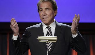 Casino mogul Steve Wynn speaks at the Global Gaming Expo, Tuesday, Sept. 30, 2014, in Las Vegas. It's not the gambling but everything else -- including giving people a chance to live big -- that remains key for casinos Wynn said at the event. (AP Photo/John Locher)
