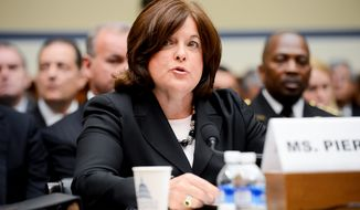 Secret Service Director Julia Pierson testifies Sept. 30 before the House Oversight and Government Reform Committee on Capitol Hill about the recent White House perimeter breach in which an armed man made it inside. (Andrew Harnik/The Washington Times)