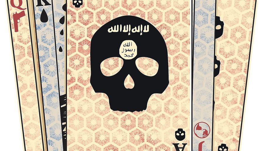 Illustration on options dealing with the Islamic State by Linas Garsys/The Washington Times