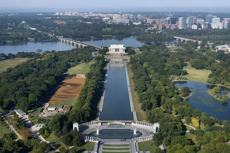 The latest project vying for turf on the National Mall in Washington is the Global War on Terror Memorial, which last week got a $1 million donation from NewDay USA. (Associated Press/File)