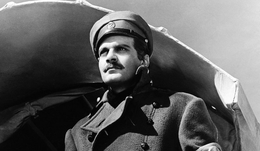 "In this undated image released by MGM, actor Omar Sharif appears in a scene from the film, ""Doctor Zhivago."" (AP Photo/MGM, File)"