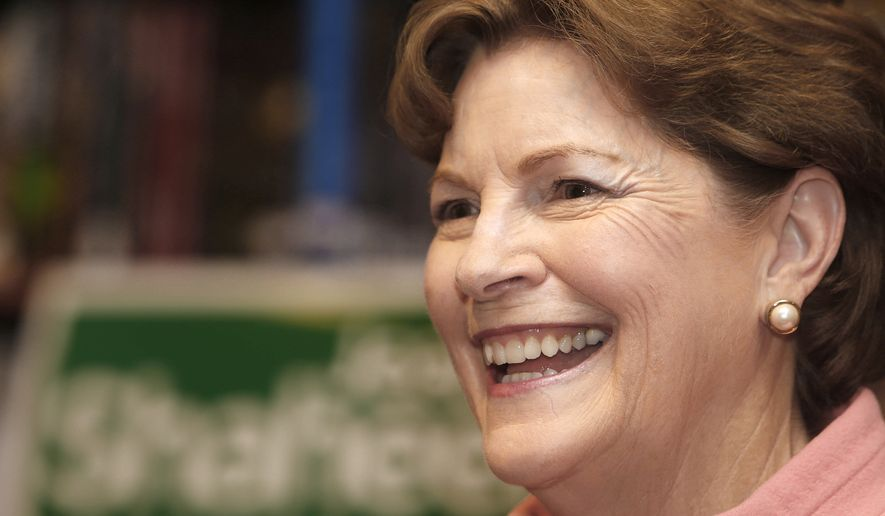 "U.S. Sen. Jeanne Shaheen, D-N.H., speaks at the RiverRun Bookstore as part of her ""A Senator New Hampshire Women Can Trust Tour"", Wednesday, Oct. 1, 2014 in Portsmouth, N.H. Shaheen is seeking re-election and is running against Republican, former Massachusetts Sen. Scott Brown. (AP Photo/Jim Cole)"