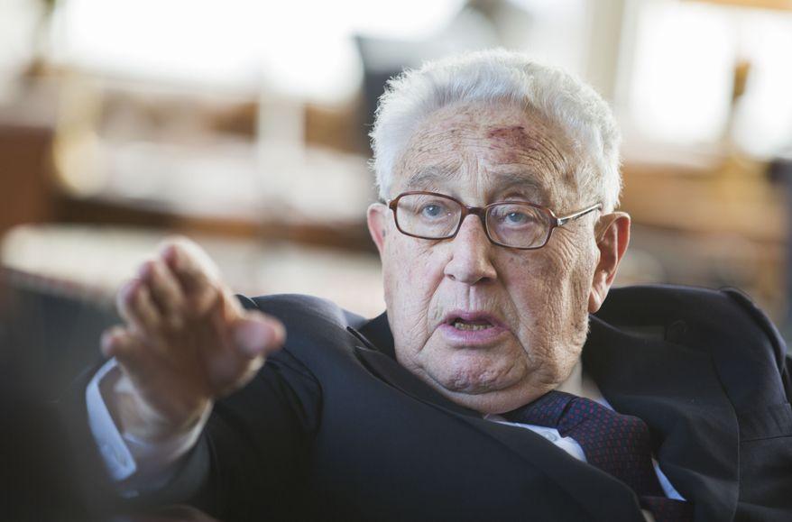 Former Secretary of State Henry Kissinger (Associated Press) **FILE**