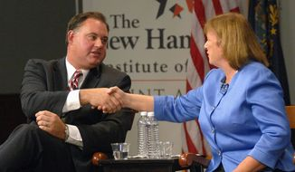 Incumbent Democratic Rep. Carol Shea-Porter is facing off against Republican challenger and former Rep. Frank Guinta for the third time. Ms. Shea-Porter first won the seat in the 2006 midterm election, lost to Mr. Guinta in 2010, and won again in 2012. (Associated Press)
