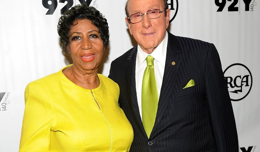 Aretha Franklin, left, and Clive Davis attend the 92Y Presents Aretha Franklin and Clive Davis In Conversation at the 92nd St. Y on Wednesday, Oct. 1, 2014 in New York. (Photo by Brad Barket/Invision/AP)