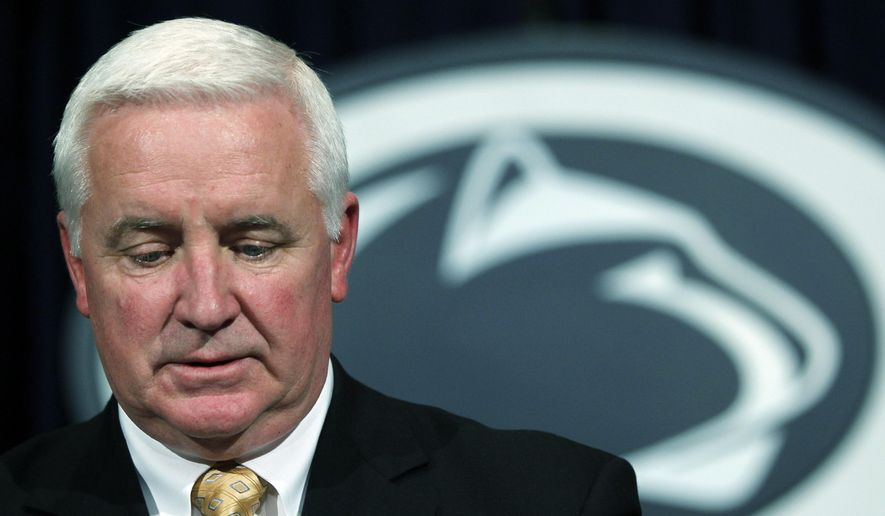 Pennsylvania Gov. Tom Corbett makes remarks during a news conference after a Penn State Board of Trustees meeting in this Nov. 10, 2011, file photo taken in State College, Pa. (AP Photo/Matt Rourke, File)