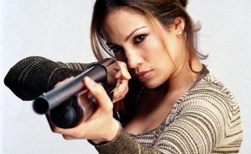 Jennifer Lopez as U.S. Deputy Marshal Karen Sisco, in the 1998 film 'Out of Sight.'