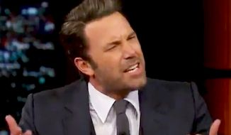 "Actor Ben Affleck appeared on Bill Maher's HBO ""Real Time"" show Friday, Oct. 3, 2014. (Image: HBO Real Time screenshot)"