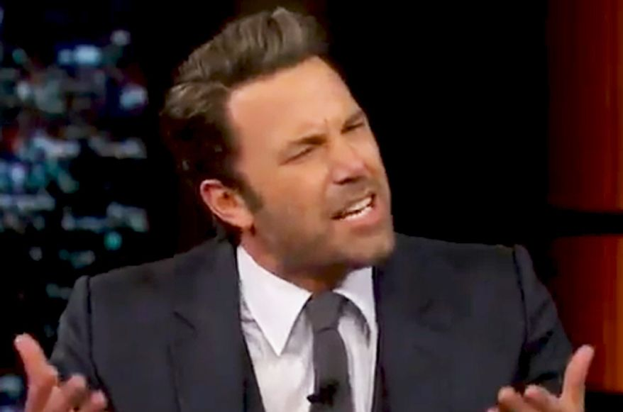 """Actor Ben Affleck appeared on Bill Maher's HBO """"Real Time"""" show Friday, Oct. 3, 2014. (Image: HBO Real Time screenshot)"""