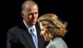 Sen. Kay Hagan, North Carolina Democrat, has been polling strong and energizing her base while Republican candidate for Senate Thom Tillis is struggling to gain the support of more conservative members of the GOP. (Associated Press)