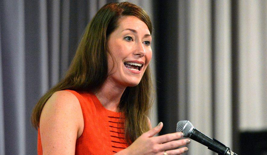 Kentucky Democratic senatorial candidate Alison Lundergan Grimes. (Associated Press)