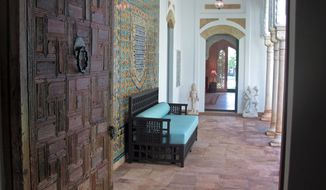 This Oct. 1, 2014 photo shows a passageway to the Mughal Suite in the Honolulu home of the late American tobacco heiress Doris Duke. The bedroom and bathroom suite in the home Duke called Shangri La will be opened to the public for the first time on Oct. 11. (AP Photo/Audrey McAvoy)