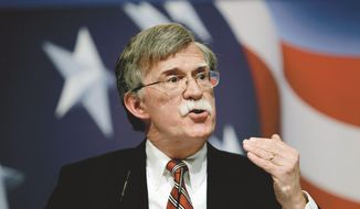 "John Bolton endorses and supports an army of national security candidates who vow to stand up for a strong America with some ""bold leadership."" (Associated Press)"