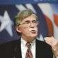 """John Bolton endorses and supports an army of national security candidates who vow to stand up for a strong America with some """"bold leadership."""" (Associated Press)"""