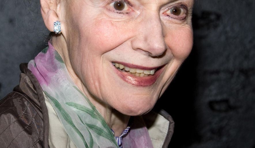 """FILE - In this April 20, 2010 file photo, Marian Seldes arrives at the opening night performance of the Broadway musical """"American Idiot"""" in New York. Seldes, the Tony Award-winning star of """"A Delicate Balance"""" who was a teacher of Kevin Kline and Robin Williams, a muse to playwright Edward Albee and a Guinness Book of World Records holder for most consecutive performances, died Monday, Oct. 6, 2014, at age 86. (AP Photo/Charles Sykes, file)"""