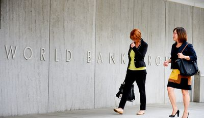 The World Bank headquarters at 1818 H Street in Northwest, Washington, D.C., Tuesday, October 7, 2014. (Andrew Harnik/The Washington Times)