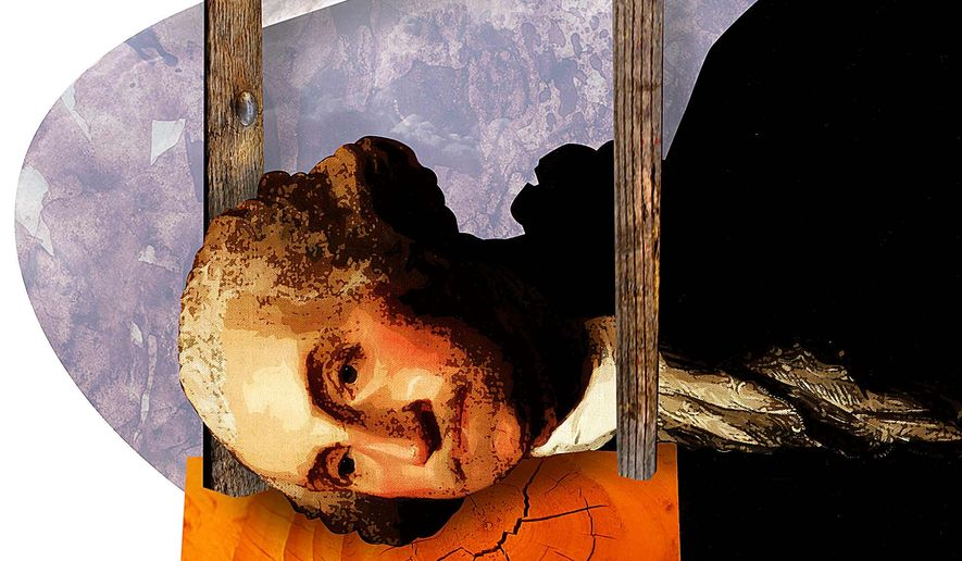 George at the Guillotine Illustration by Greg Groesch/The Washington Times
