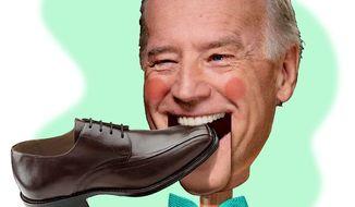 Illustration on Joe Biden, gaffe-prone vice president by Alexander Hunter/The Washington Times