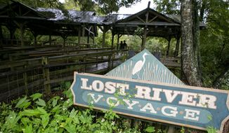 The old Lost River Voyage dock at Silver Springs State Park in Silver Springs, Florida is shown on Tuesday  Sept. 28, 2014. The park is trying to decide what to do with the the dock, which is also an old Sea Hunt set. The State took over operation of the historic tourist attraction on Oct. 1, 2013. The park service has spent the year renovating, returning the park to a more natural state. (AP Photo/The Ocala Star-Banner, Alan Youngblood)