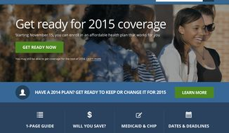 This image shows the updated website for HealthCare.gov, a federal government website managed by the U.S. Centers for Medicare & Medicaid Service. The Obama administration has unveiled an updated version of HealthCare.gov. It's got some improvements and some challenges. There's also at least one early mistake. (Associated Press)