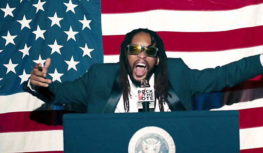 Rapper Lil Jon performs in Rock The Vote's Turn Out For What video.