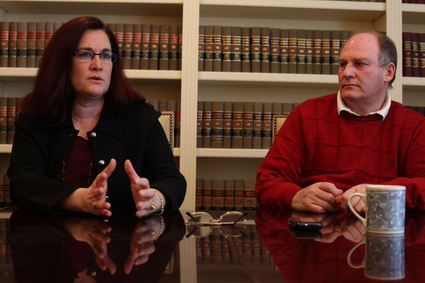 Julian And Thal Wendrow talk to the Detroit Free Press in their lawyer's office in Bloomfield Hills, Mich., in this Tuesday, Feb. 8, 2011 photo. Former Oakland County prosecutors are being sued by the Wendrows for criminally charging them in a sex-abuse case based on allegedly false statement. The case was dropped by prosecutors in 2008. (AP Photo/Detroit Free Press, Susan Tusa)